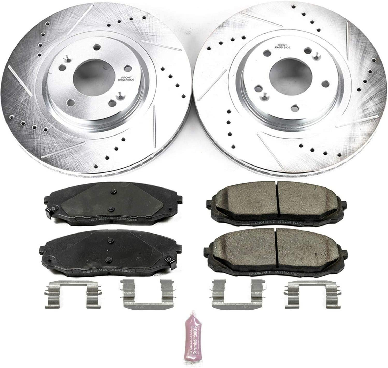 Rear Cross Drilled Rotors w/Ceramic Pads Performance Brake Kit ...