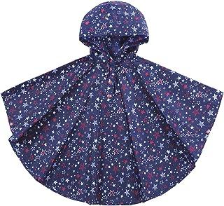 Unisex Niñas Niños Impermeable con capucha impermeable de la lluvia del poncho, 80-160cm