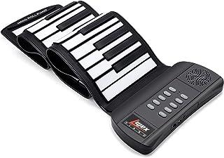 Lujex Portatile Pianoforte, Silicone 61 Tasti Roll Up Piano Tastiera con USB,Altoparlante,Silicone Flessibile Rimboccarsi ...