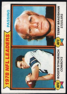 Football NFL 1979 Topps #1 Roger Staubach/Terry Bradshaw 1978 Passing Leaders