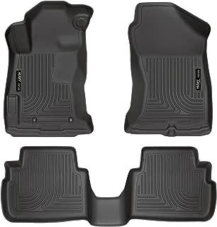 Husky Liners 99661 Black Weatherbeater Front & 2nd Seat Floor Liners Fits 2017-18 Impreza, 2018 Subaru Crosstek, 3 Pack