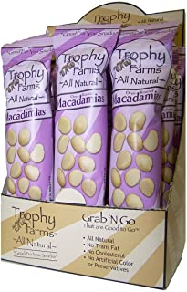 Trophy Nut All Natural Macadamia Splits, 2.0 oz Tubes, 12 ct