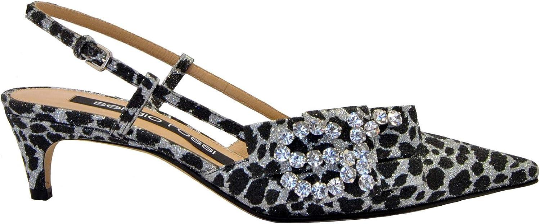 Sergio Rossi Luxury Fashion Damen A83750MTE1578205 Silber Absatzschuhe   Herbst Winter 19