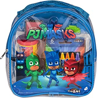 Cra-Z-Art PJ Masks Coloring and Activity Backpack Childrens-Drawing-Pads-and-Books,Colors may vary (Red/Blue)