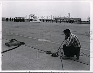 1963 Press Photo A preparation at the Otis Air force base, for Kennedy's arrival - 7.25 x 9 in. - Historic Images