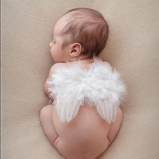 ノーブランド品 ニューボーンフォト 天使の羽ベビー 新生児コスプレ ベビーフォト コスチューム 百日記念 セルフフォト