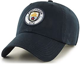 Manchester City FC Adults Official Football/Soccer Crest Baseball Cap (One Size) (Navy)