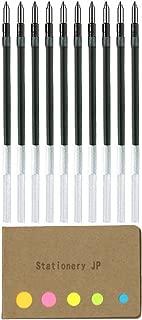 Uni-ball SXR-80-07 Refills for Jetstreem Ballpoint Pen, 0.7mm, Black Ink, 10-Pack, Sticky Notes Value Set