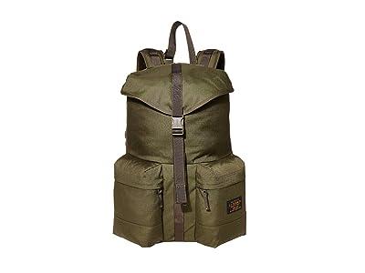 Filson Ripstop Nylon Backpack (Surplus Green) Backpack Bags