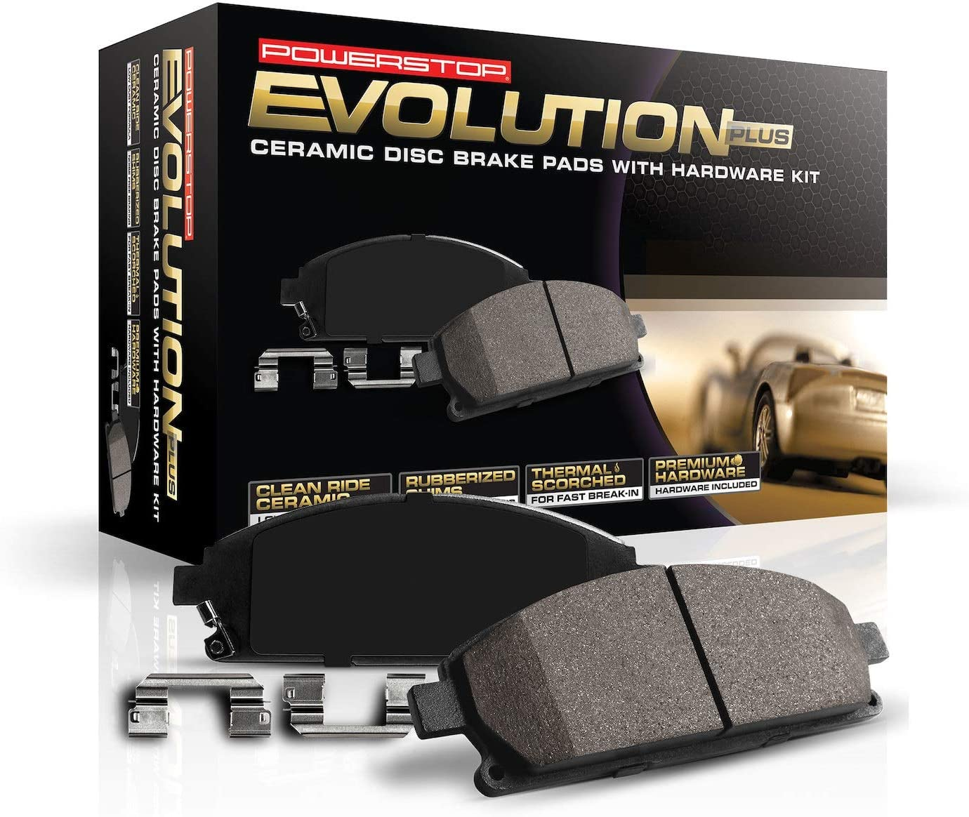 Power Stop 16-1649 Z16 Evolution Front Ceramic Brake Pads