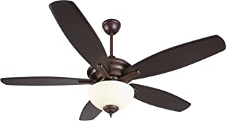 Craftmade CN52OBG5 Copeland Triple Mount 52 Inch Ceiling Fan with 26 Watts Light Kit, 5 Blades, Oiled Bronze Gilded