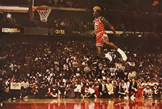 check out 272e8 db25f Poster Michael Jordan Famous Foul Line Dunk Vintage Sports (Basketball)  Print (35in x