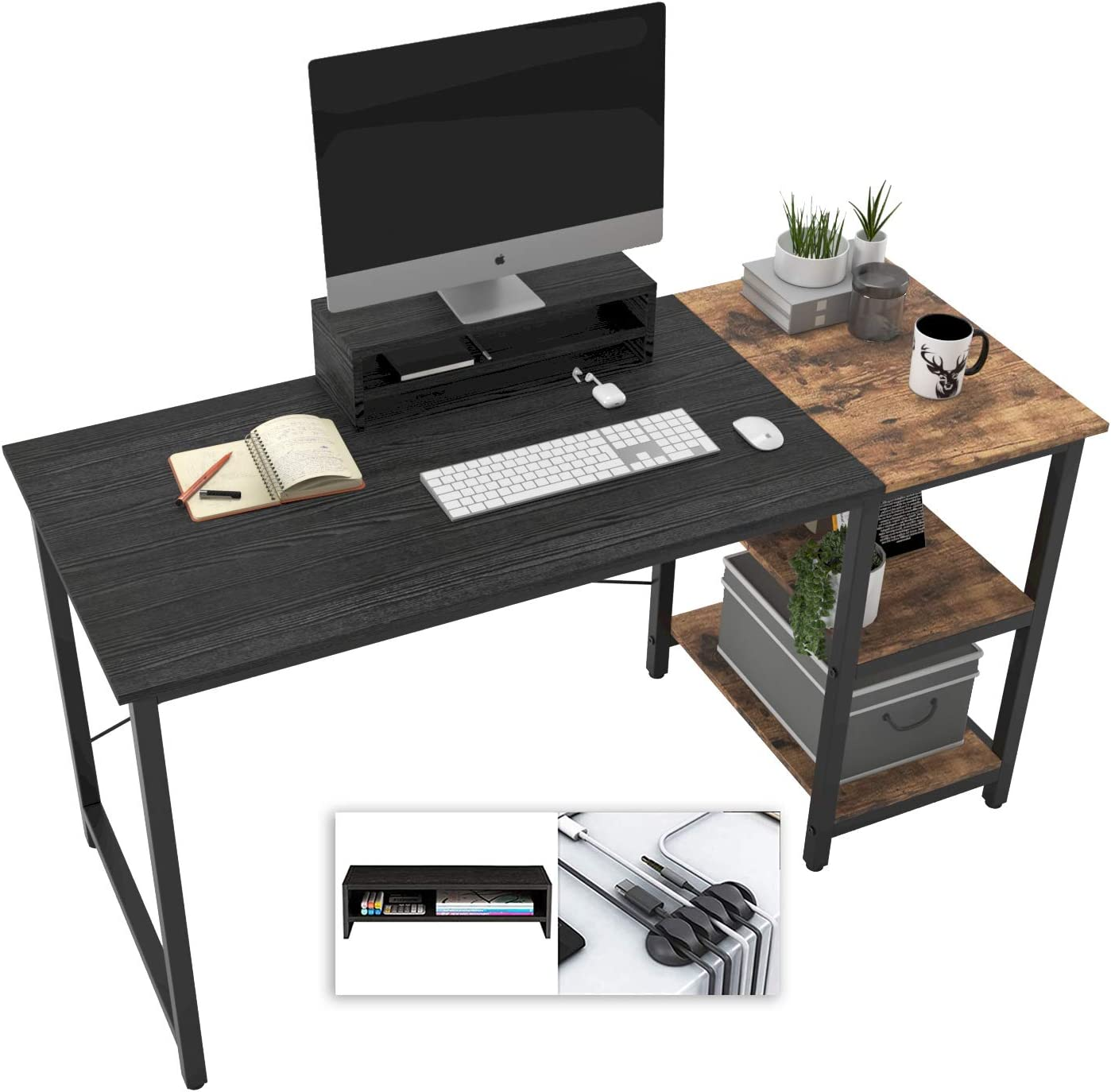 Computer Desk Ranking TOP1 with Shelves for Home Writing Office Study Ta Cheap mail order sales 55