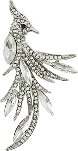 Crystal Bird Brooch