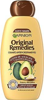 Garnier Original Remedies - Champú con Aceite de Aguacate y Manteca de Karité para Pelo Rebelde y Escrespado - 300 ml