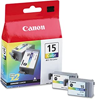 Canon BCI15 BCI15 (BCI-15) Ink, Tri-Color, 2/PK