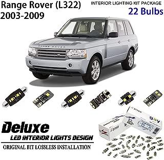 ZIYO ZPL4124- (22 Bulbs) Deluxe LED Interior Light Kit 6000K Xenon White Dome Light Bulbs Replacement Upgrade for 2003-2009 Land Rover Range Rover (L322)