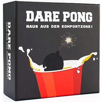 Dare Pong® - Beer Pong trifft auf Wahrheit oder Pflicht. Trinkspiel Neuheit 2020 ! Ideal für Partys, Vorglühen, Festivals oder als Geschenk