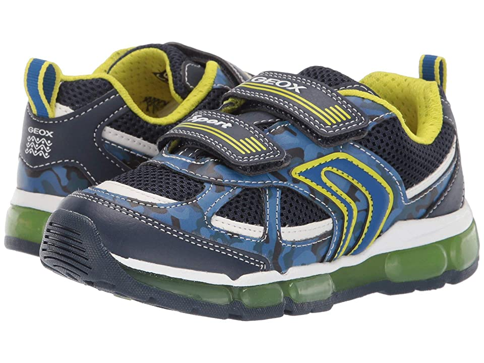 Geox Kids Android Boy 21 (Little Kid) (Navy/Lime) Boy