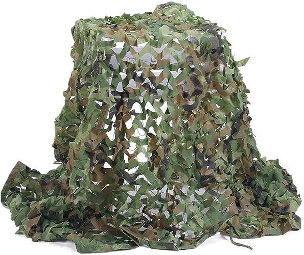 Auvent de terrasse Filet de Camouflage Filet Pare-soleil Auvents en Filet, pour Militaire Chasse Camping Pêche en Plein Air 4x3m Vert Jungle Garden Camo Net Déguisement Voiture Filet de camouflage fil