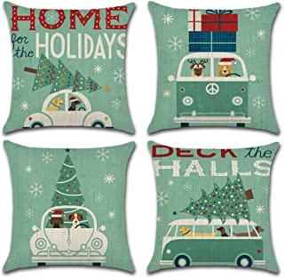 deck the halls pillow