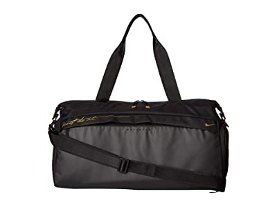 Nike Radiate Graphic Training Club Bag (Black/Black/Metallic Gold) Duffel Bags