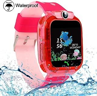 Kids Smartwatches, SZBXD Waterproof LBS/GPS Tracker Phone SOS Touchscreen Smartwatch Games Clock Smart Watch Christmas Birthday Gifts for School Boy Girls (Pink)