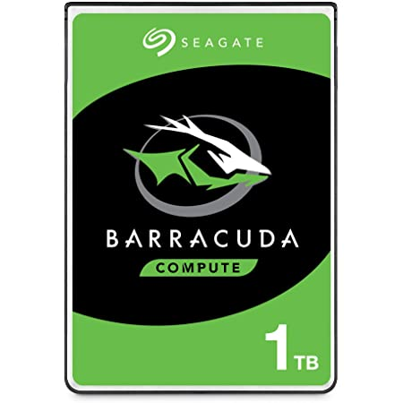 Seagate BarraCuda 1TB Internal Hard Drive HDD – 2.5 Inch SATA 6 Gb/s 5400 RPM 128MB Cache for PC Laptop – Frustration Free Packaging (ST1000LM048)