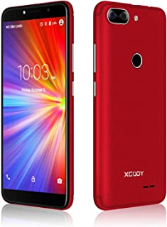 "XGODY 3G GSM Unlocked Cell Phones 5.5"" inch 18:9 IPS Screen Display 5MP Dual Camera Global Band Dual 8GB Android 7.0(Red)"