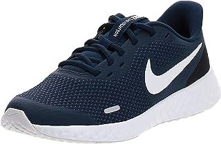 Nike Revolution 5 (GS), Running Shoe Unisex Adulto, Azul (Midnight Navy/White-Black), 35.5 EU