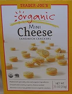 Trader Joe's Organic Mini Cheese Sandwich Crackers, 7.5 Ounce (2 Pack)