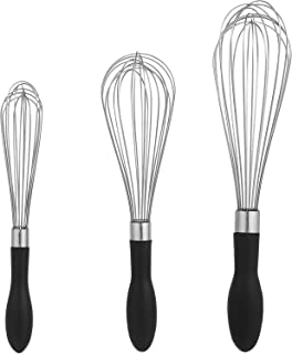 AmazonBasics Stainless Steel Wire Whisk Set (3-Piece)