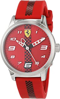 Ferrari Unisex-Adult Quartz Watch, Analog Display and Silicone Strap 860001