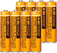 $20 » 8 Pack HHR-55AAABU NI-MH Rechargeable Battery for Panasonic 1.2V 550mAh AAA Battery for Cordless Phones