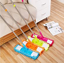 ZOSOE Professional Flat Mop 360 Degree for Home and Office Cleaning with Reusable Washable Microfiber Mop Cloth Pad, Mop for Floor, Cleaning Mop, Mop for Home Cleaning (Multi-Coloured)