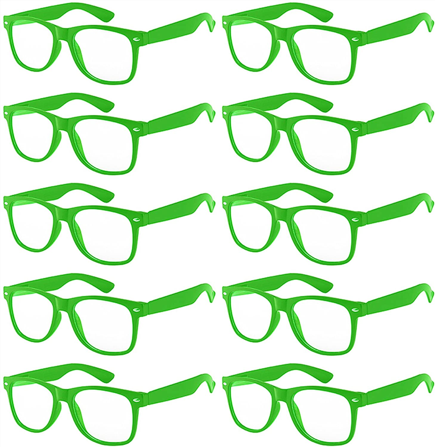 Case of 10 Pairs Kids Clear Lens Sunglasses Protect Child's Eyes from UVB UVA