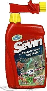 Sevin Bug Killer With Hose End Bottle Multiple Insects Rtu Carbaryl 32 Oz