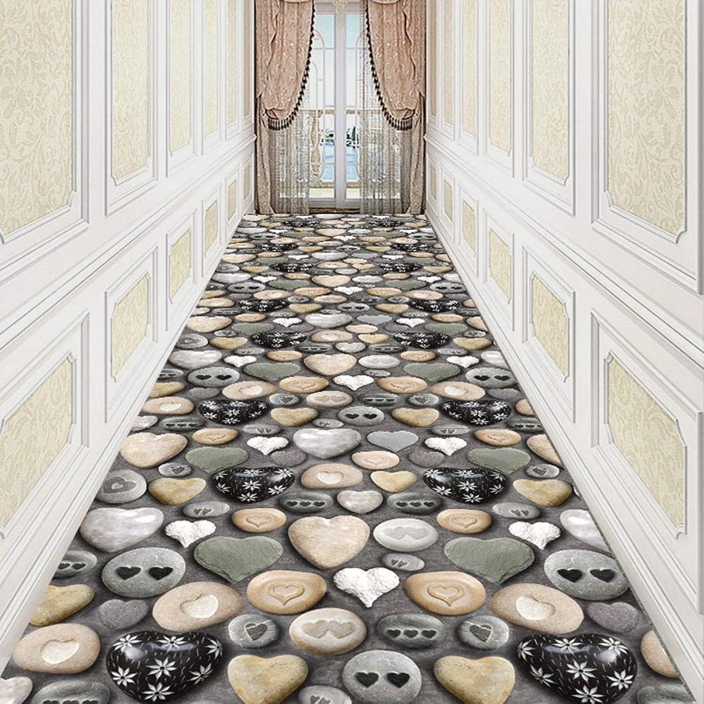 Tappeto correrener per corridore di dimensioni personalizzate, antiscivolo, antiscivolo e antiscivolo in tessuto non tessuto moderno Fodera per corridori interni per corridore da corridoio,0.6x9m