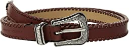 18 mm Cowboy Belt with Whipstitch