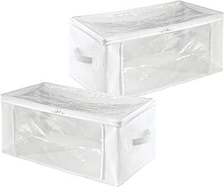 iDesign Fabric Storage Zipper Bag-Medium (Set of 2), 16