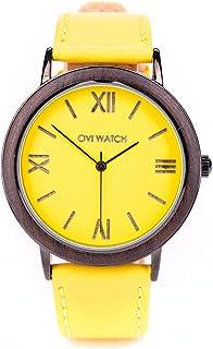 Ovi Watch - Reloj Amarillo de Madera