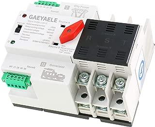 GAEYAELE W2R-3P Din Rail Mounted Automatic Transfer Switch Three Phase ATS 100A Power Transfer Switch (W2R 3P 50A)
