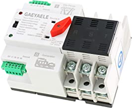 GAEYAELE W2R-3P Din Rail Mounted Automatic Transfer Switch Three Phase ATS 100A Power Transfer Switch (W2R 3P 100A)