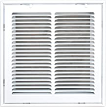 Speedi-Grille SG-1212 FG 12-Inch by 12-Inch White Return Air Vent Filter Grille with Fixed Blades