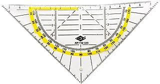 WEDO 52553,Equerre géométrique sans poignée 160mm transparente flexible