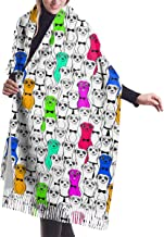 Colorful Smiling Meerkats Women's Soft Cashmere Shawl Wraps Winter Large Scarf