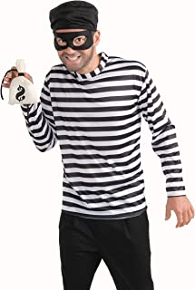 Forum Novelties Burglar Adult Costume, White/Black, One size