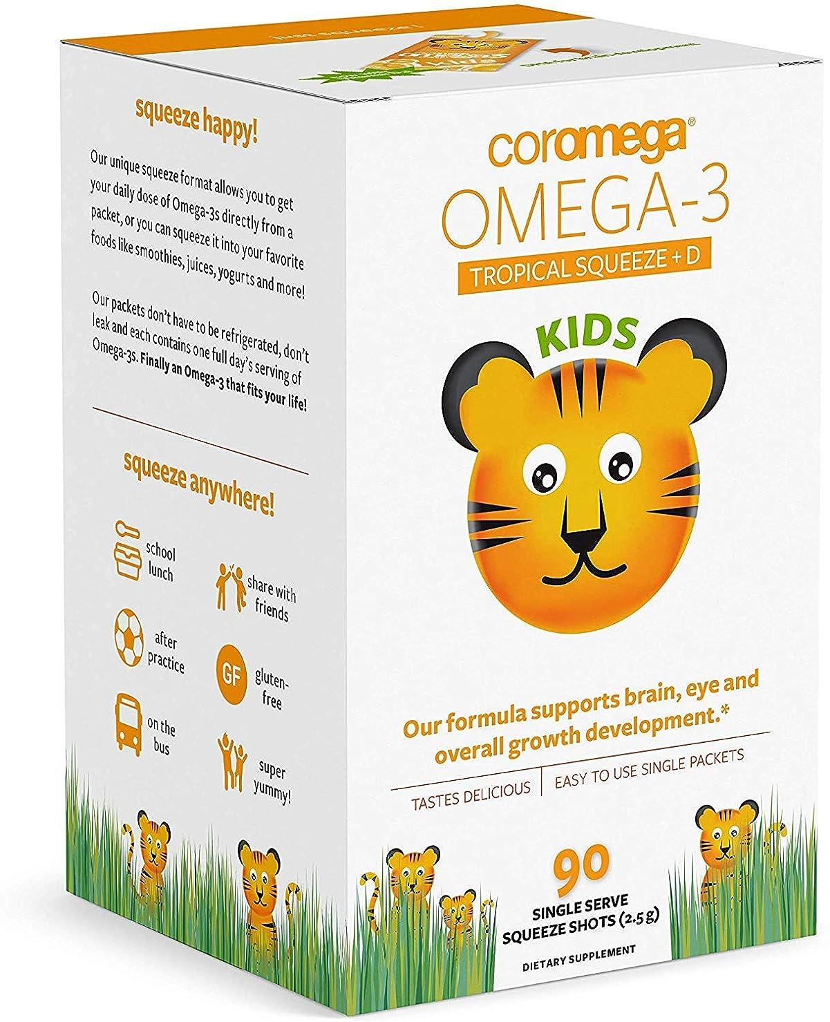 視力警告ほこりCoromega - Omega-3 熱帯オレンジをからかう - 90個のシングルサーブパケットX 1 パック [並行輸入品]