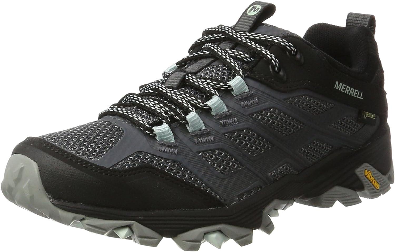 (7.5 UK, Black (Granite))  Merrell Women's Moab FST GoreTEX Low Rise Hiking Boots