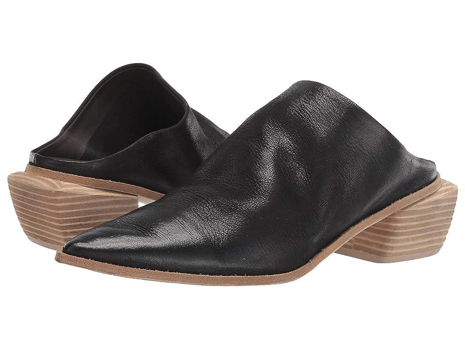 Marsell Stacked Heel Mule (Black/Natural) Women
